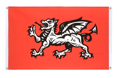 England white dragon Banner Flag 3x5 ft, landscape