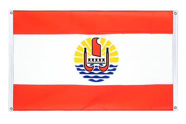 French Polynesia Banner Flag 3x5 ft, landscape