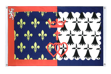 Pay de la Loire - Banner Flag 3x5 ft, landscape