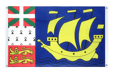 Saint Pierre and Miquelon Banner Flag 3x5 ft, landscape