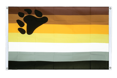 Gay Pride Bear Banner Flag 3x5 ft, landscape