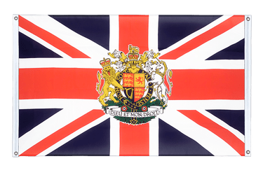 Great Britain with crest Banner Flag 3x5 ft, landscape
