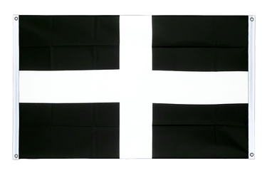 St. Piran Cornwall Banner Flag 3x5 ft, landscape