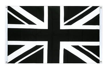 Union Jack black - Banner Flag 3x5 ft, landscape