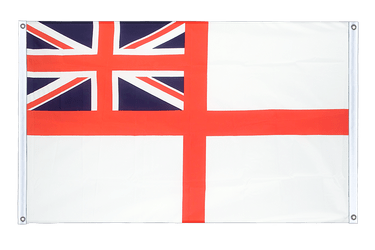 Naval Ensign of the White Squadron Banner Flag 3x5 ft, landscape