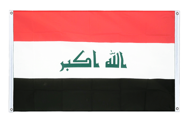 Iraq 2009 Banner Flag 3x5 ft, landscape