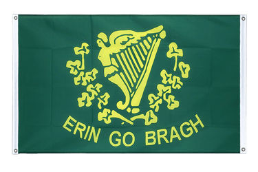 Erin Go Bragh - Banner Flag 3x5 ft, landscape