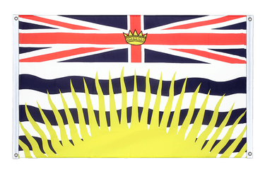 British Columbia - Banner Flag 3x5 ft, landscape