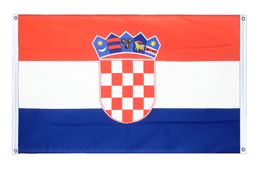 Croatia Banner Flag 3x5 ft, landscape