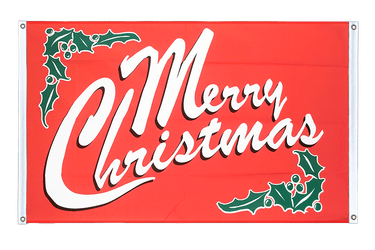Merry Christmas Banner Flag 3x5 ft, landscape