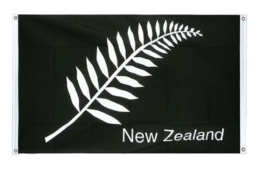 New Zealand feather all blacks - Banner Flag 3x5 ft, landscape