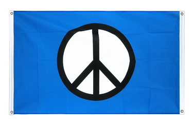 Peace CND Banner Flag 3x5 ft, landscape