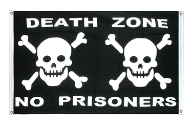 Pirate Death Zone Banner Flag 3x5 ft, landscape