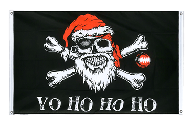 Pirate Christmas Banner Flag 3x5 ft, landscape