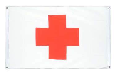 Red Cross Banner Flag 3x5 ft, landscape