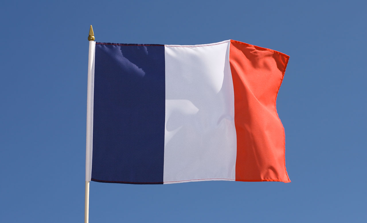 "hand waving flag france - 12x18"" - royal-flags"