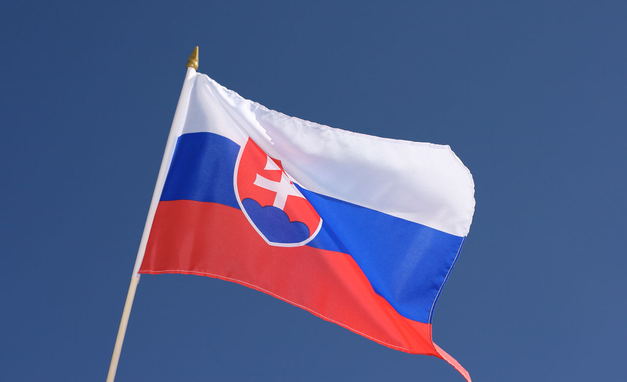 "Hand Waving Flag Slovakia - 12x18"" - Royal-Flags"