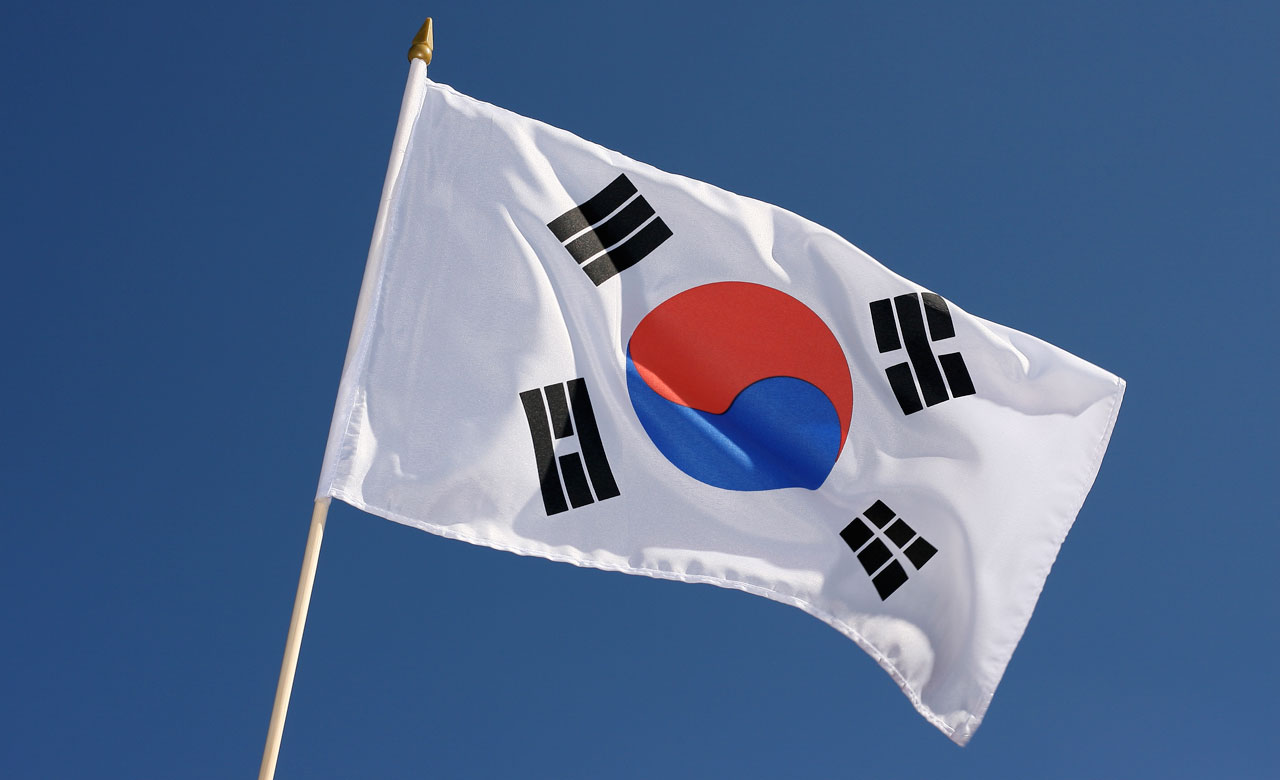Hand waving flag south korea 12x18 royal flags - Picture of a korean flag ...