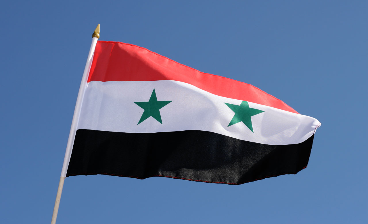 Hand Waving Flag Syria X RoyalFlags - Syria flag