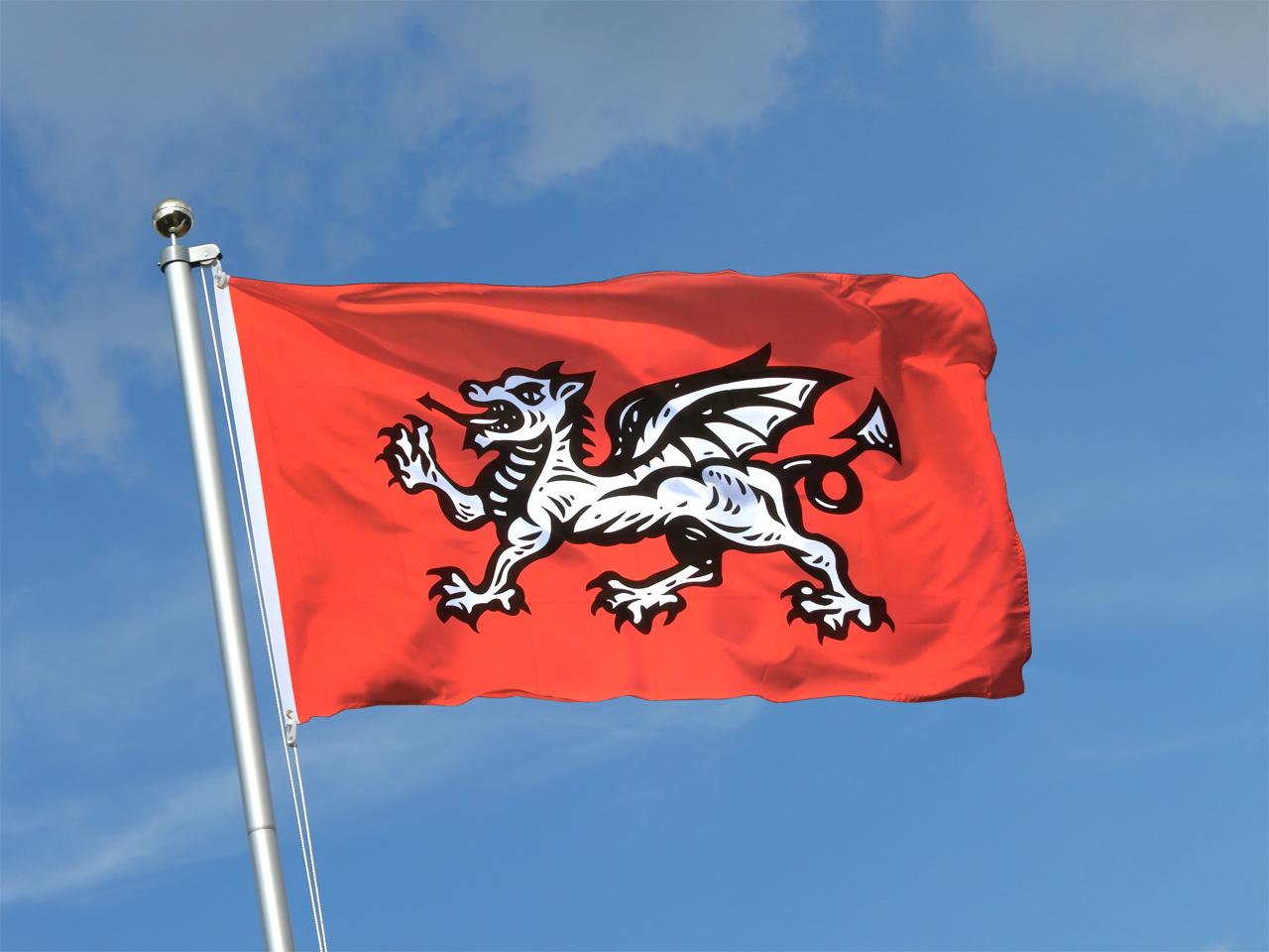 Drapeau Angleterre Avec Dragon