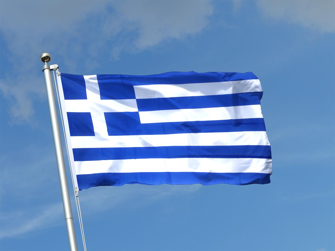 Griechenland Fahne kaufen  90 x 150 cm  FlaggenPlatzat