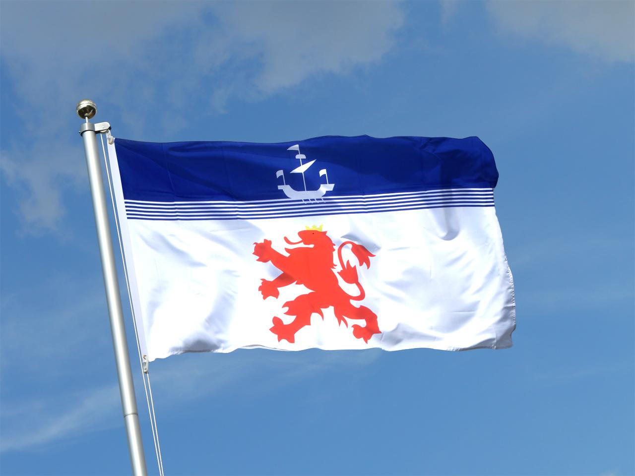 Drapeau devon avec lion 90 x 150 cm monsieur drapeaux - Drapeau rouge avec drapeau anglais ...