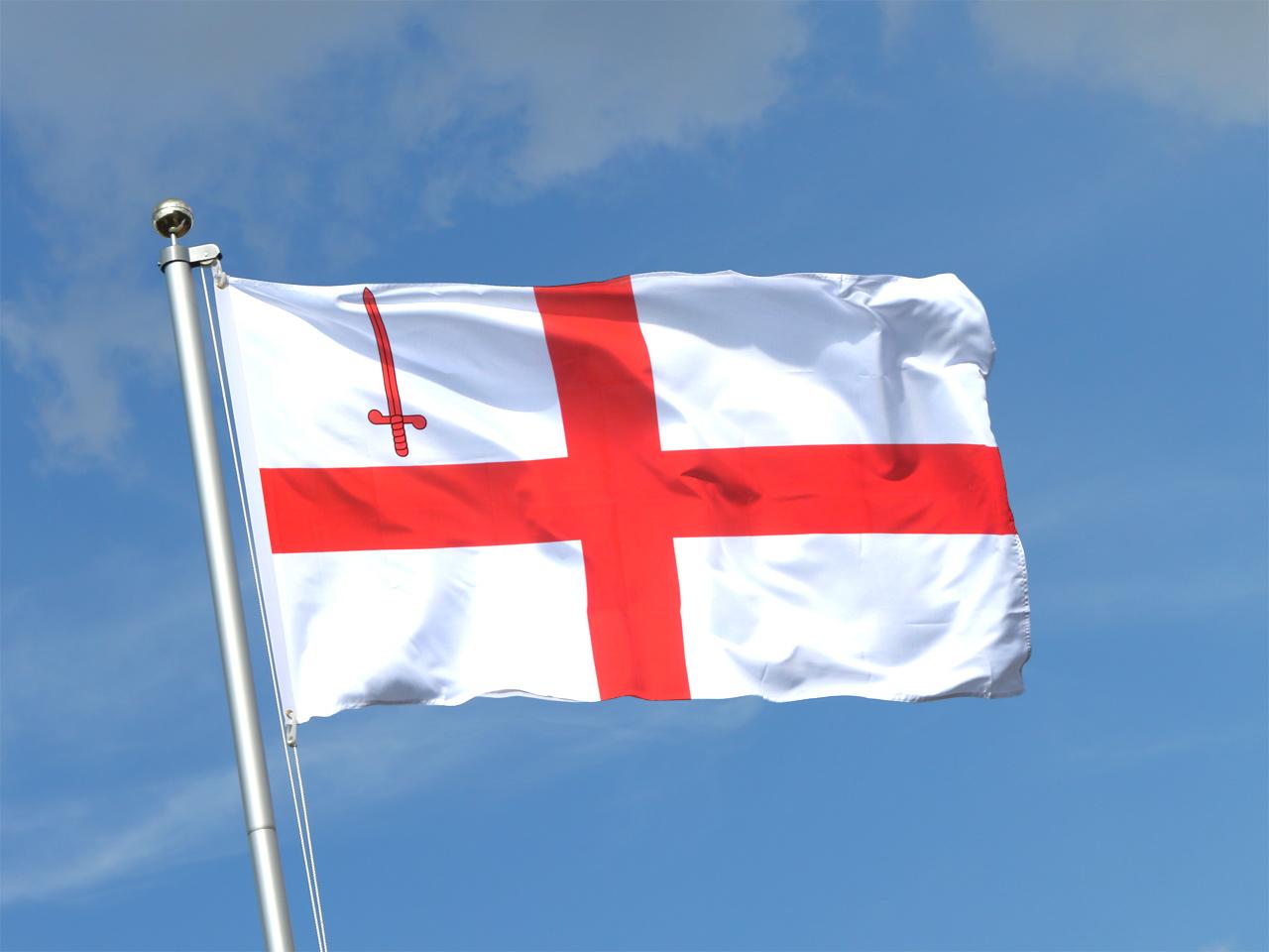 флаг лондона фото провод, который