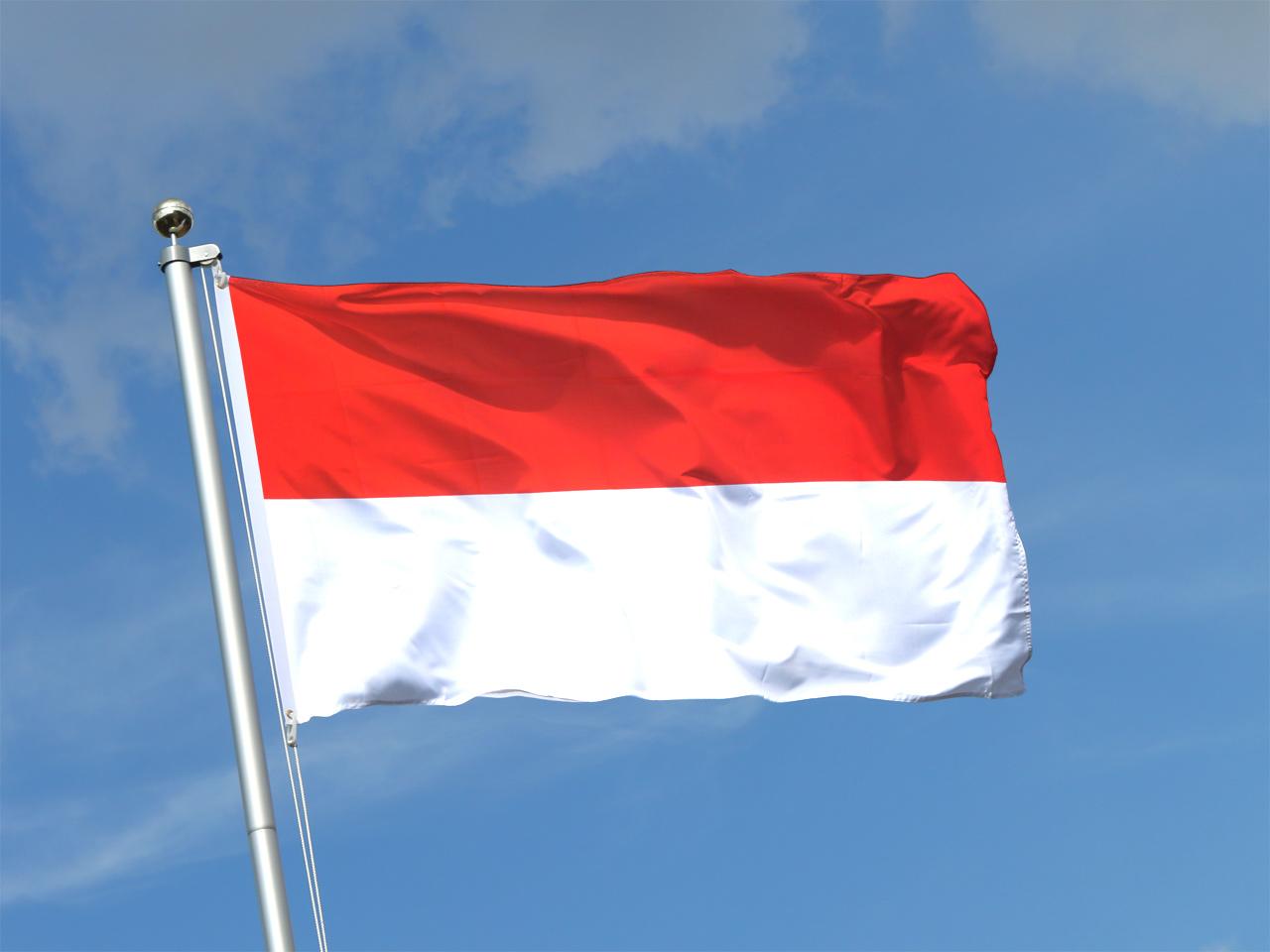 indonesien flagge indonesische fahne kaufen fahnen shop. Black Bedroom Furniture Sets. Home Design Ideas
