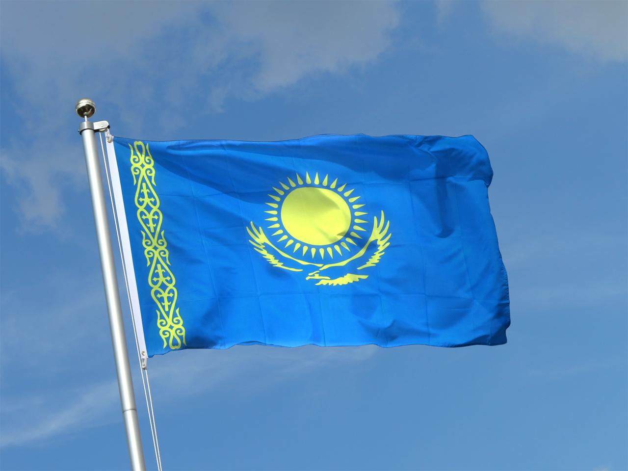 Drapeau Kazakhstan 150/x 90/cm