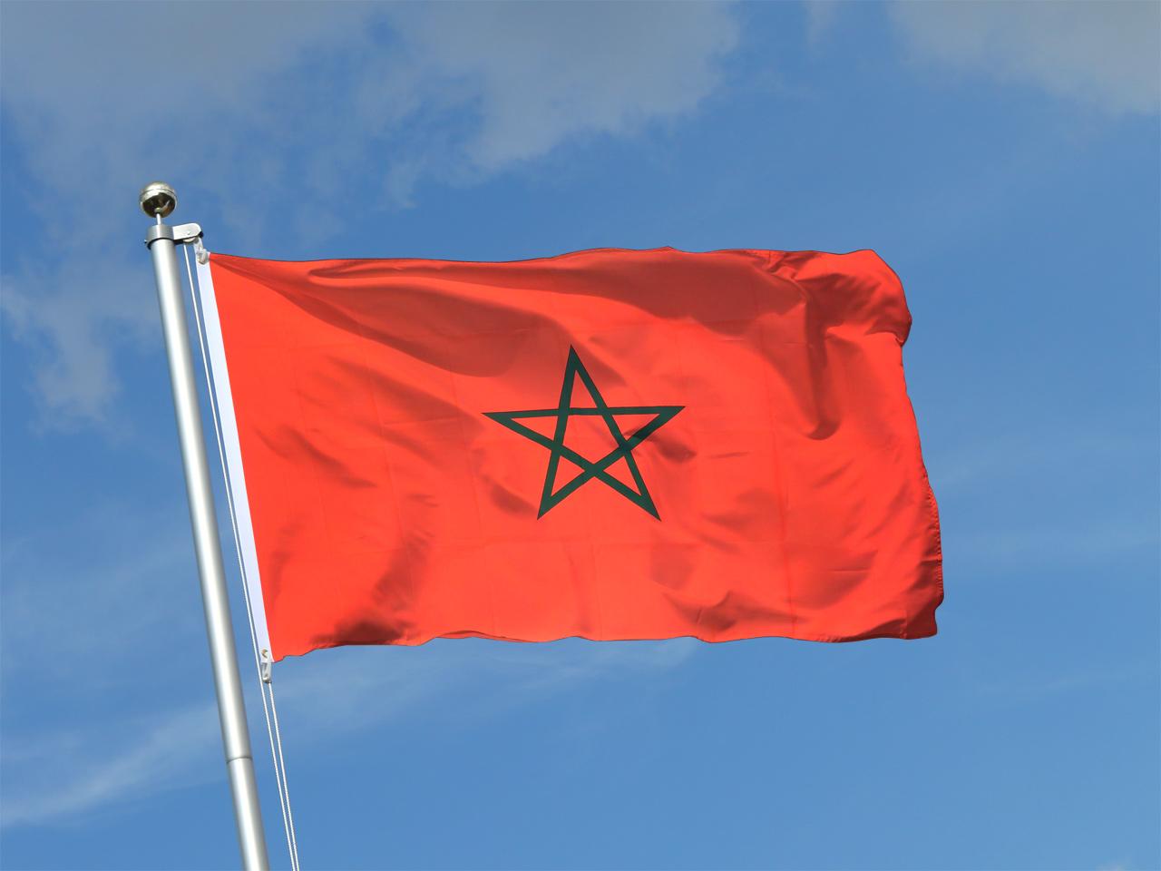 Acheter drapeau maroc 90 x 150 cm monsieur des drapeaux - Drapeau du maroc a imprimer ...