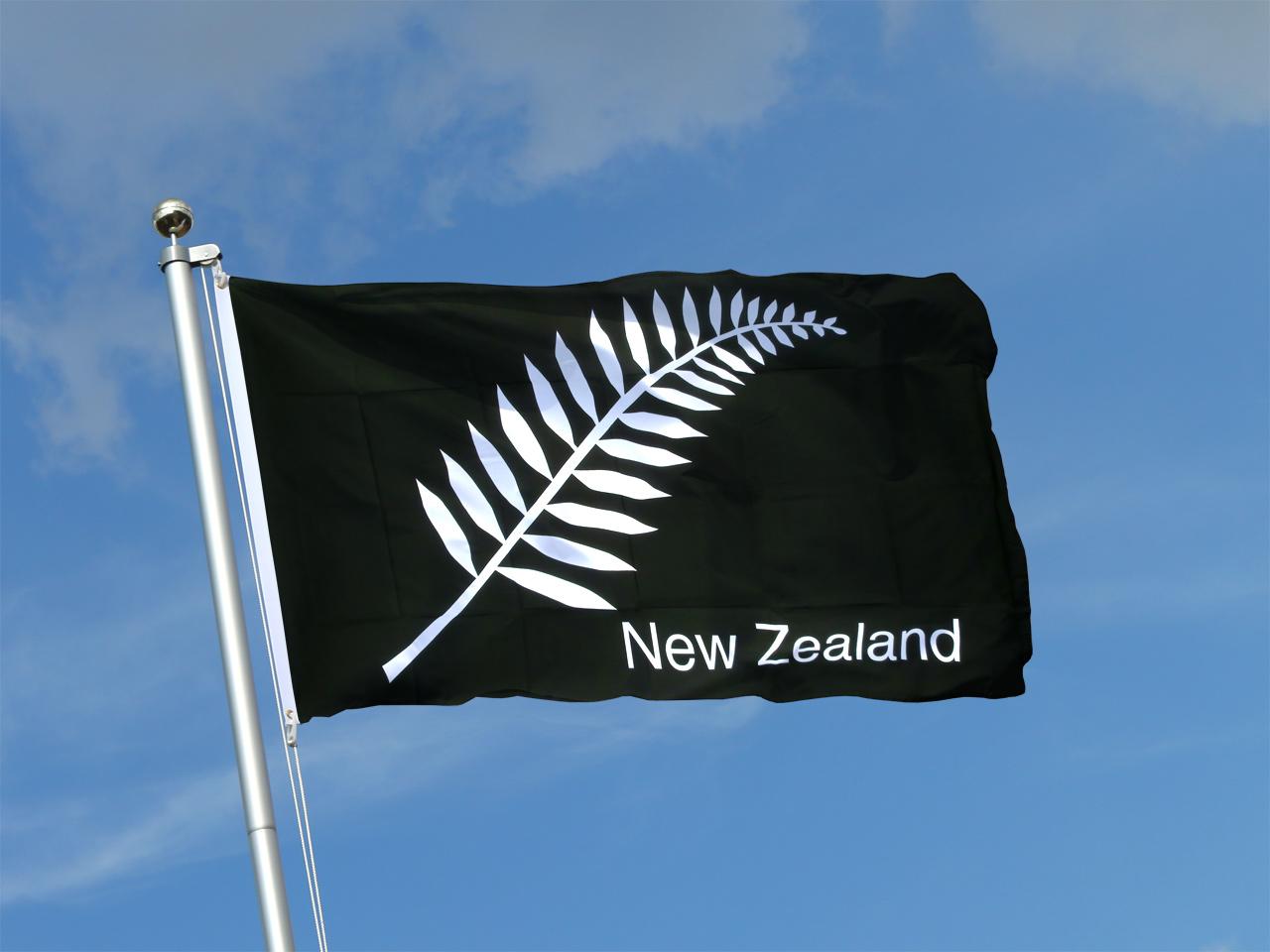 New Zealand feather all blacks - 3x5 ft Flag
