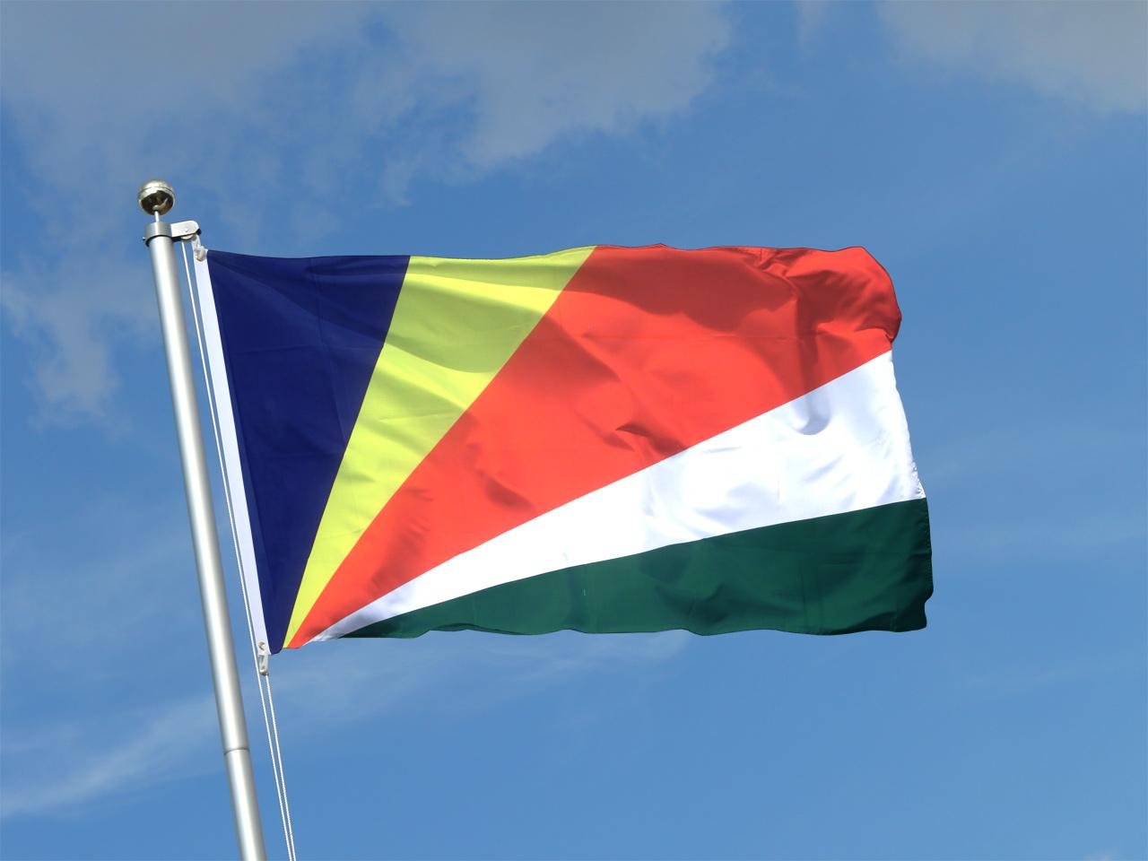 les seychelles drapeau