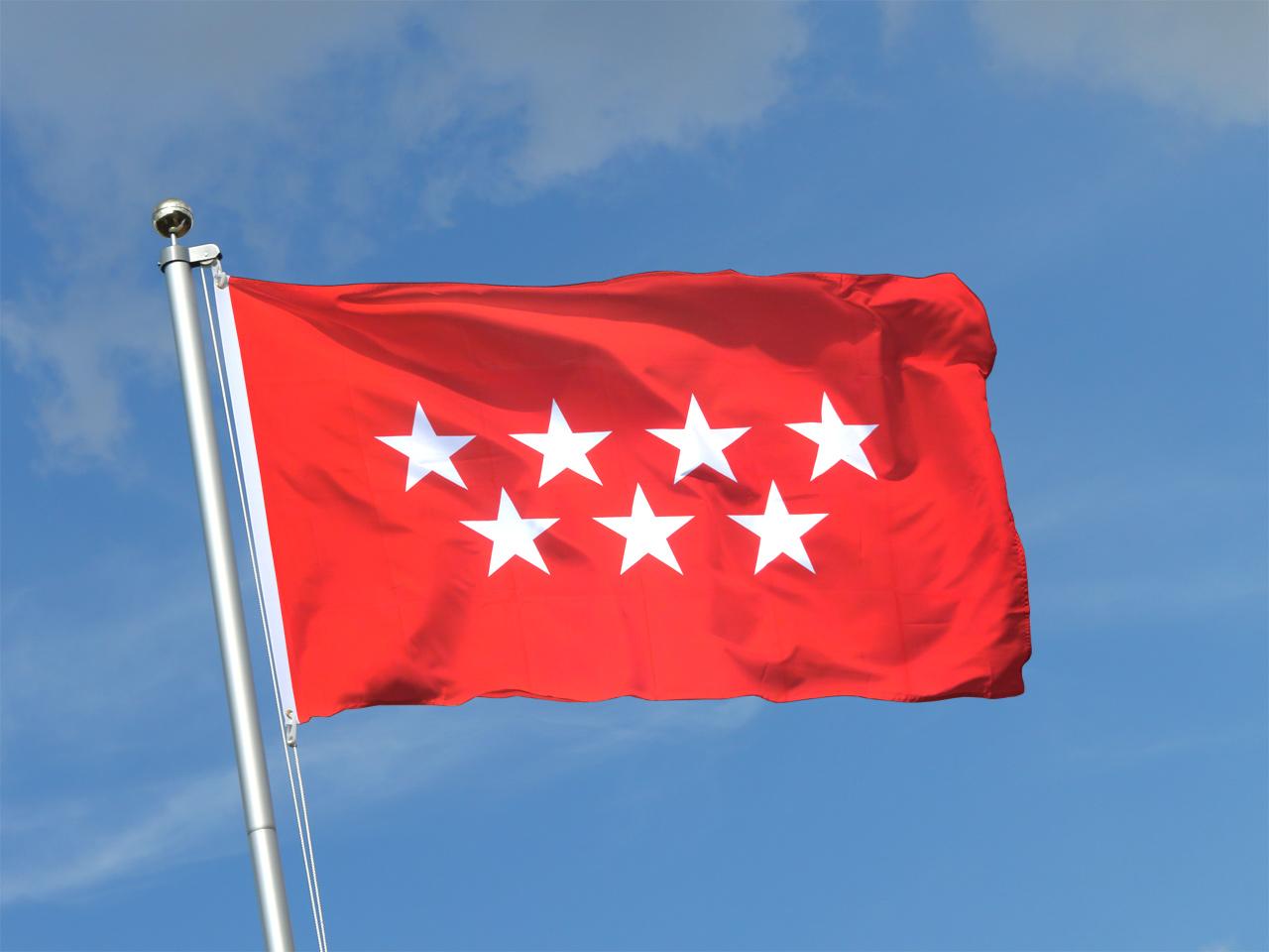 Madrid flagge madrilenische fahne kaufen fahnen shop for Dekoration spanien