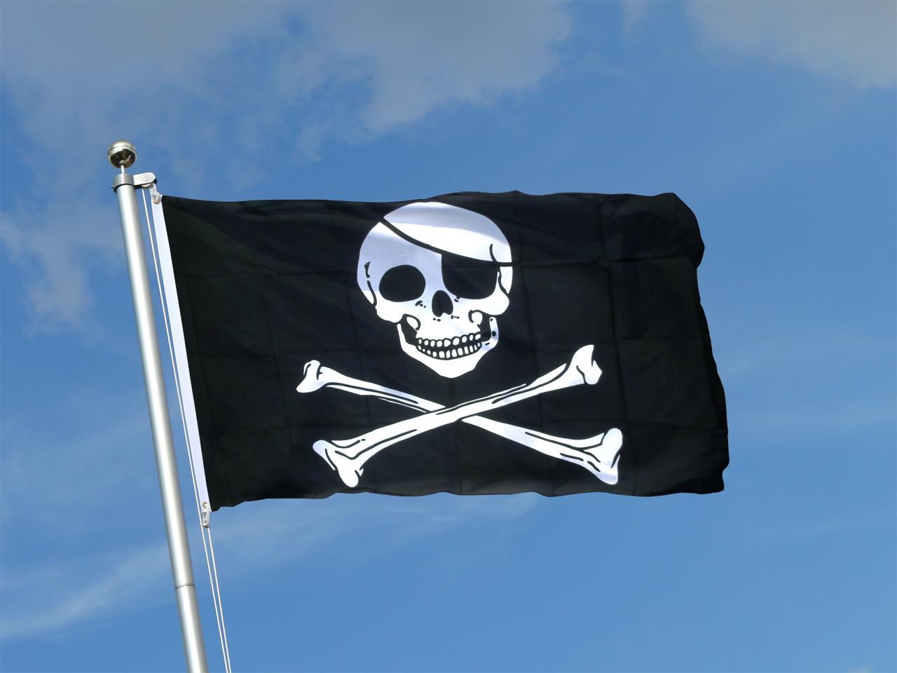 Acheter drapeau pirate 90 x 150 cm monsieur des drapeaux - Monsieur pirate ...