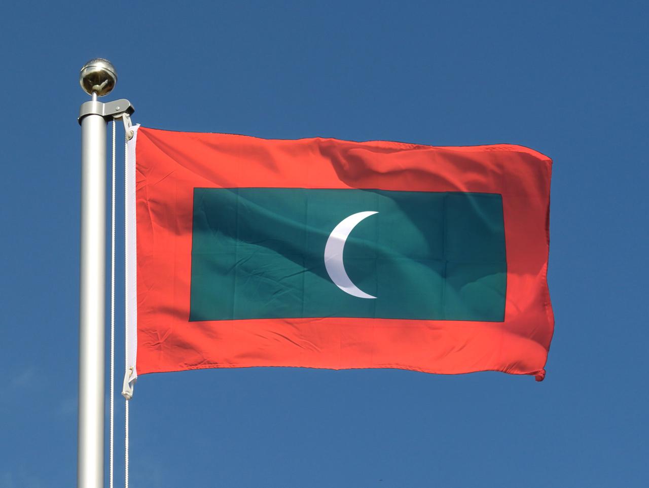drapeau pas cher maldives 60 x 90 cm monsieur des drapeaux. Black Bedroom Furniture Sets. Home Design Ideas