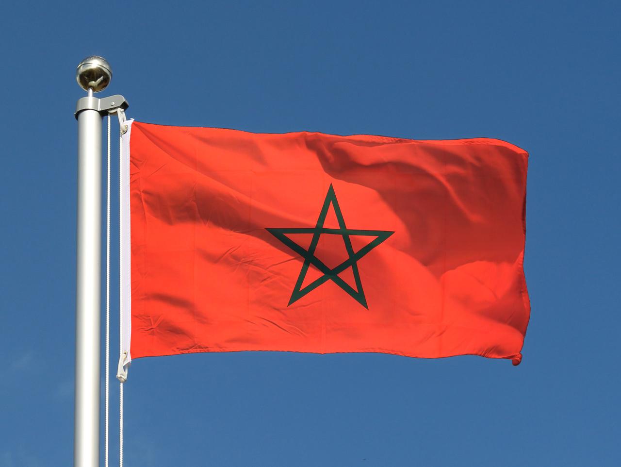Drapeau du maroc pas cher 60 x 90 cm boutique de m - Drapeau du maroc a imprimer ...