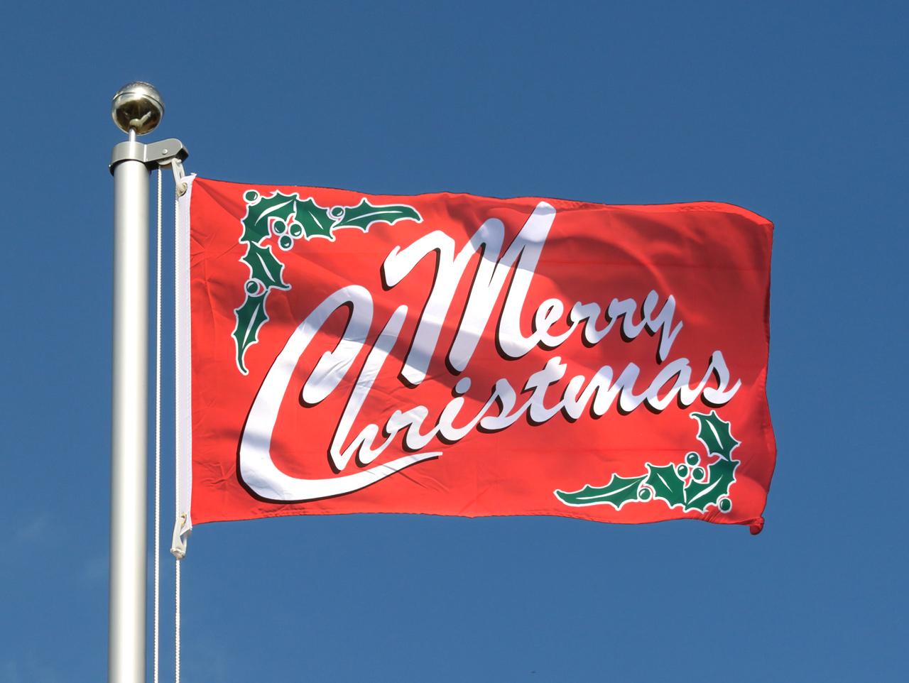 Cheap Flag Merry Christmas - 2x3 ft - Royal-Flags