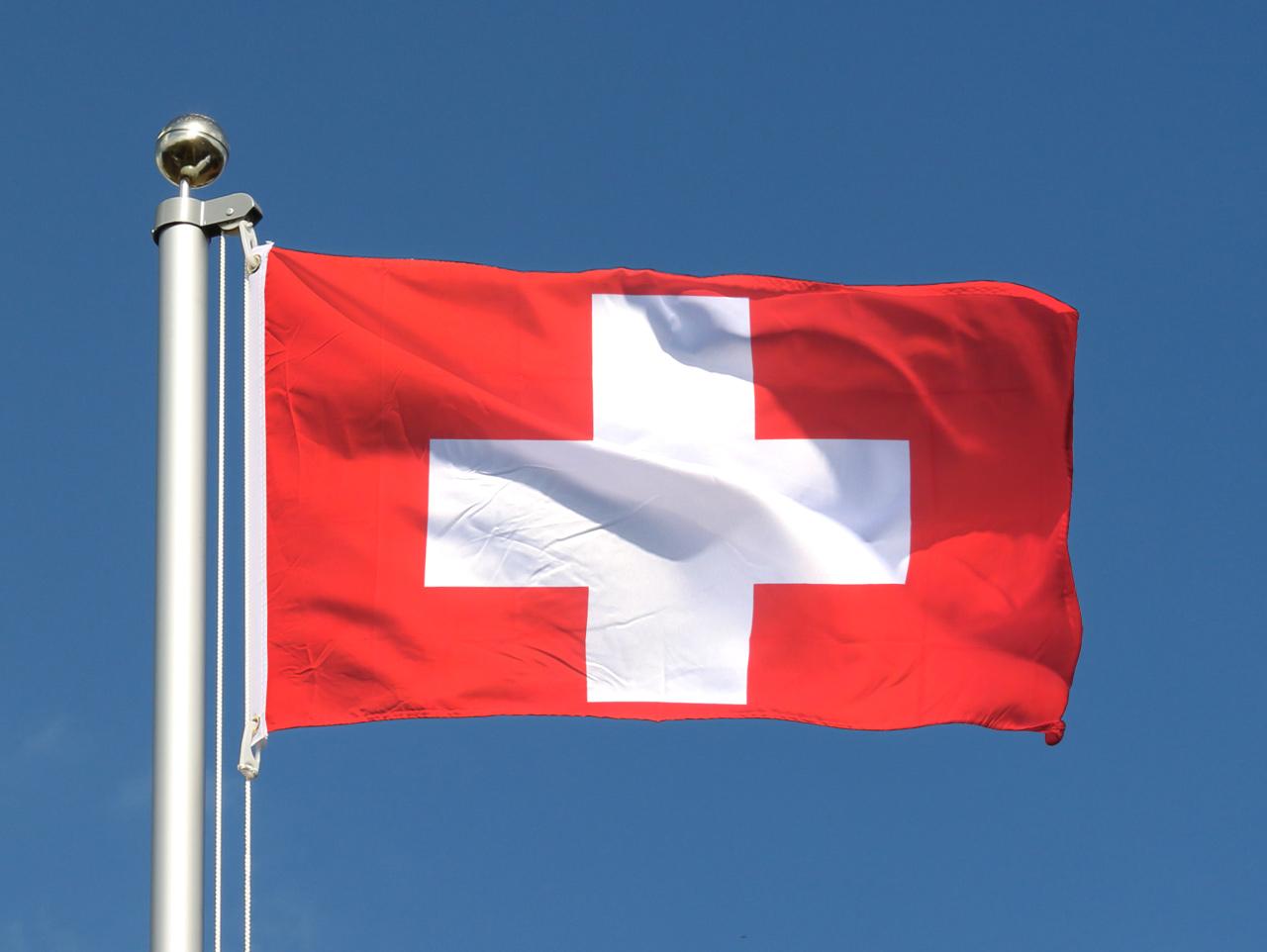 Drapeau pas cher suisse 60 x 90 cm monsieur des drapeaux for Drapeau publicitaire exterieur pas cher