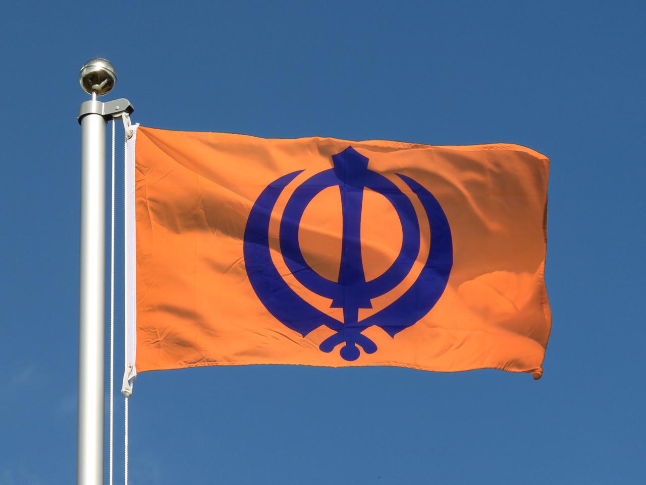 Cheap Sikhism Flag - 2x3 ft - Royal-Flags