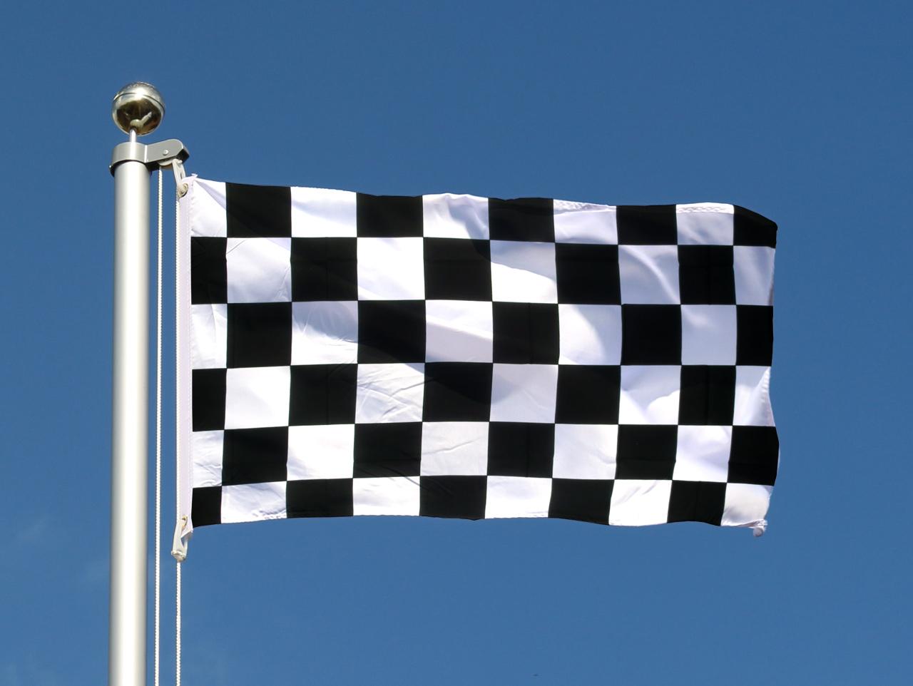 Drapeau damier pas cher 60 x 90 cm monsieur drapeaux for Drapeau publicitaire exterieur pas cher