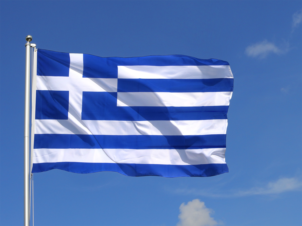 Griechenland Flagge Bild