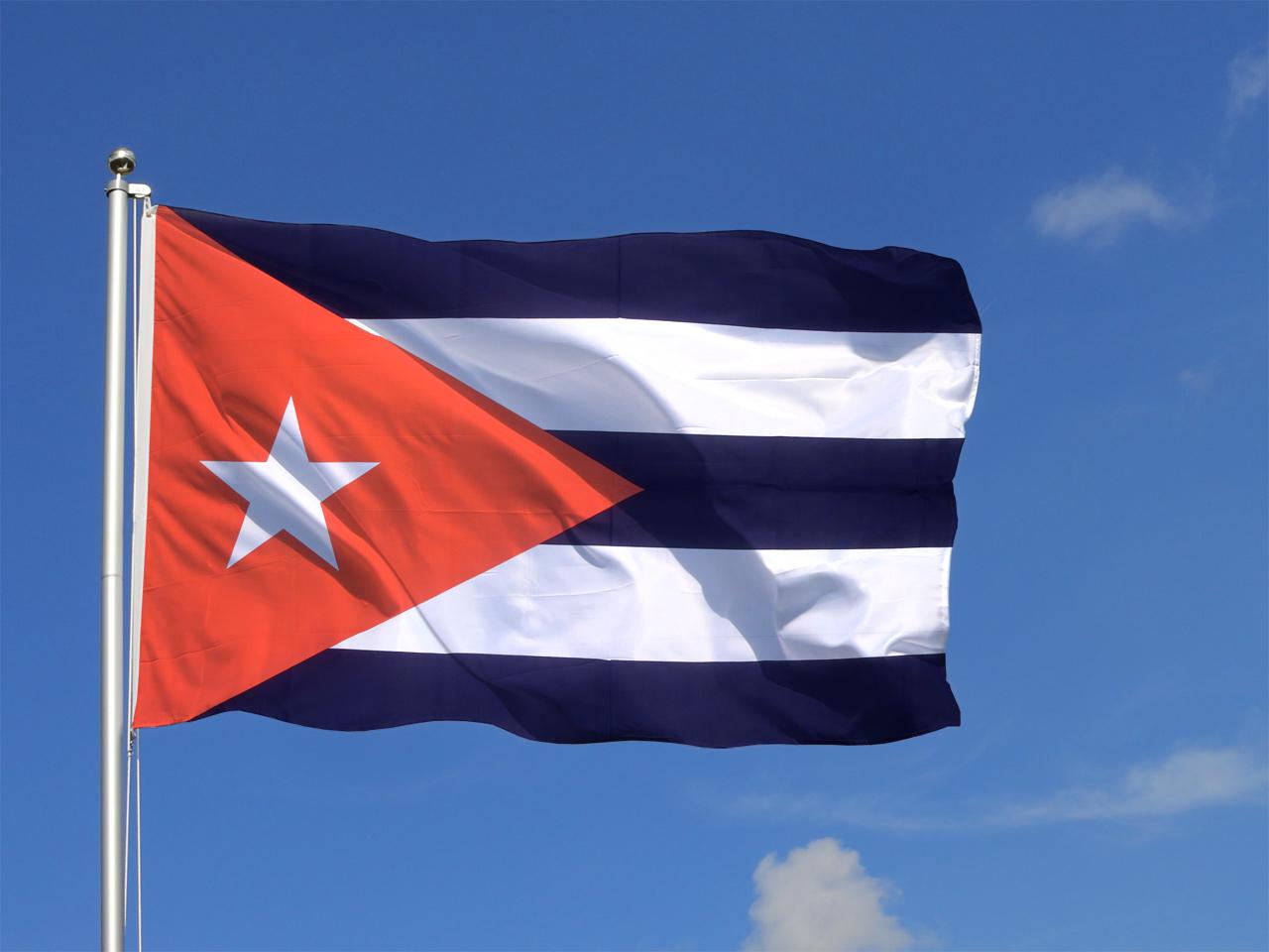 Gro e kuba flagge 150 x 250 cm Kuba dekoration