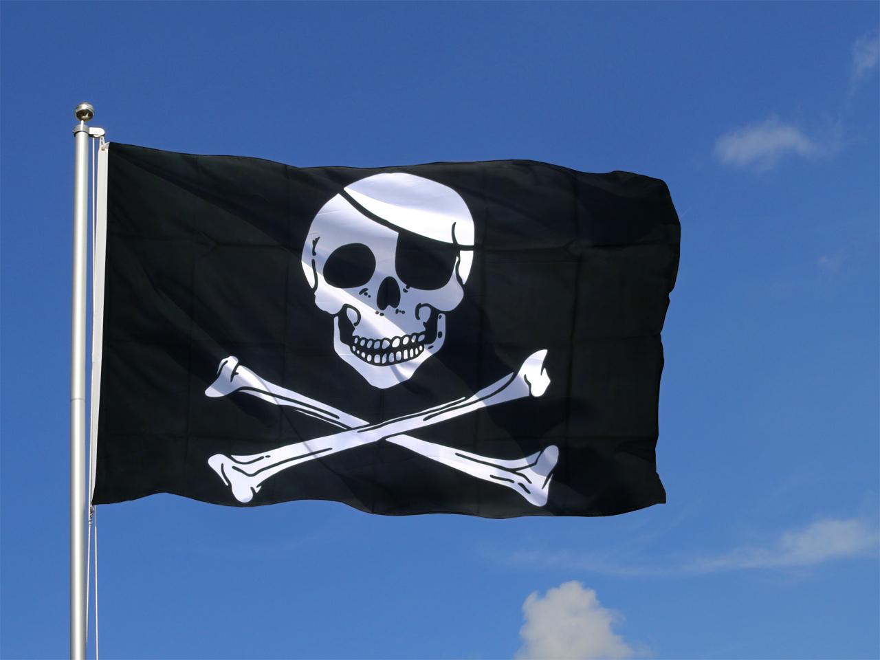 Grand drapeau pirate 150 x 250 cm monsieur des drapeaux - Monsieur pirate ...