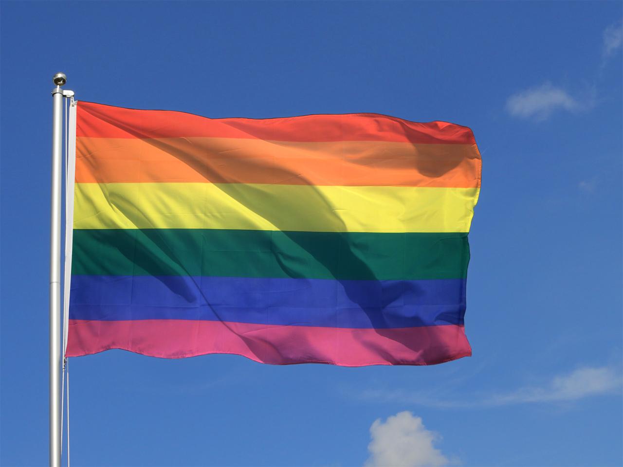grand drapeau gay 150 x 250 cm monsieur des drapeaux. Black Bedroom Furniture Sets. Home Design Ideas