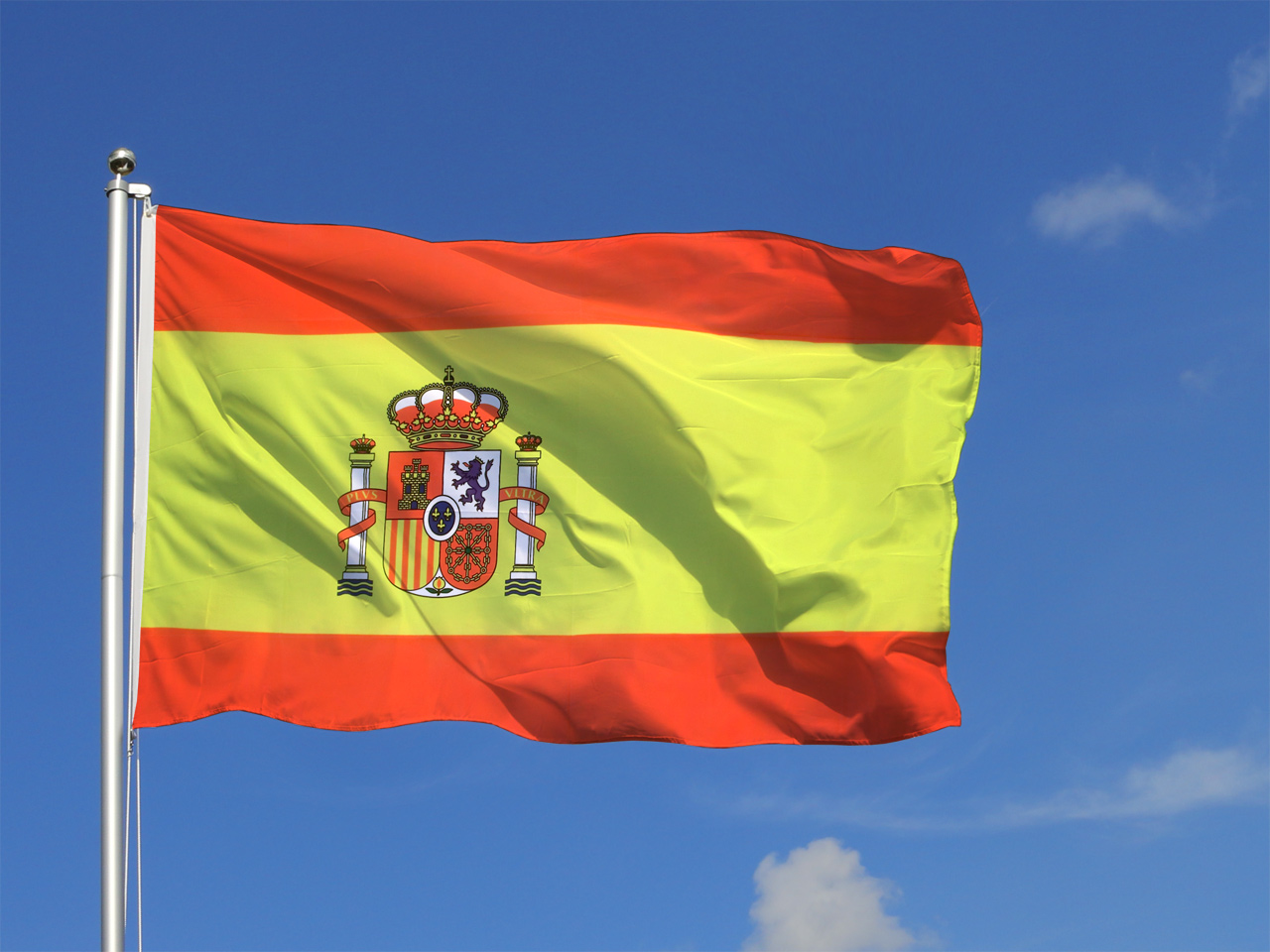 Gro e spanien mit wappen flagge for Dekoration spanien