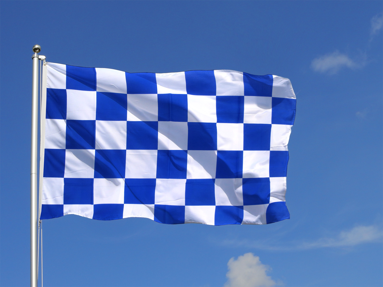 Large Flag Checkered blue-white - 5x8 ft - Royal-Flags