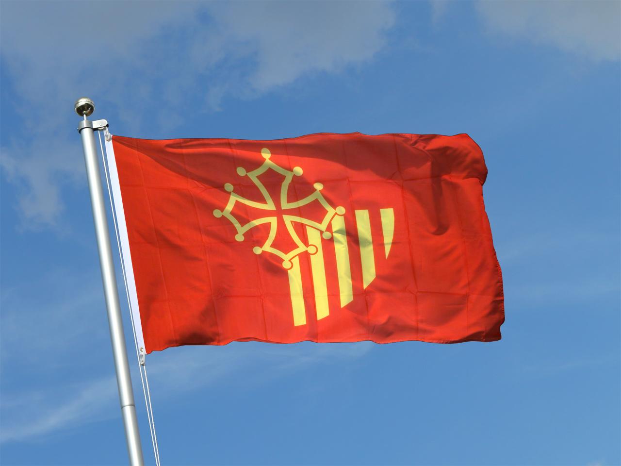 90 x 150 cm Hissflagge Fahne Flagge Frankreich Languedoc-Roussillon