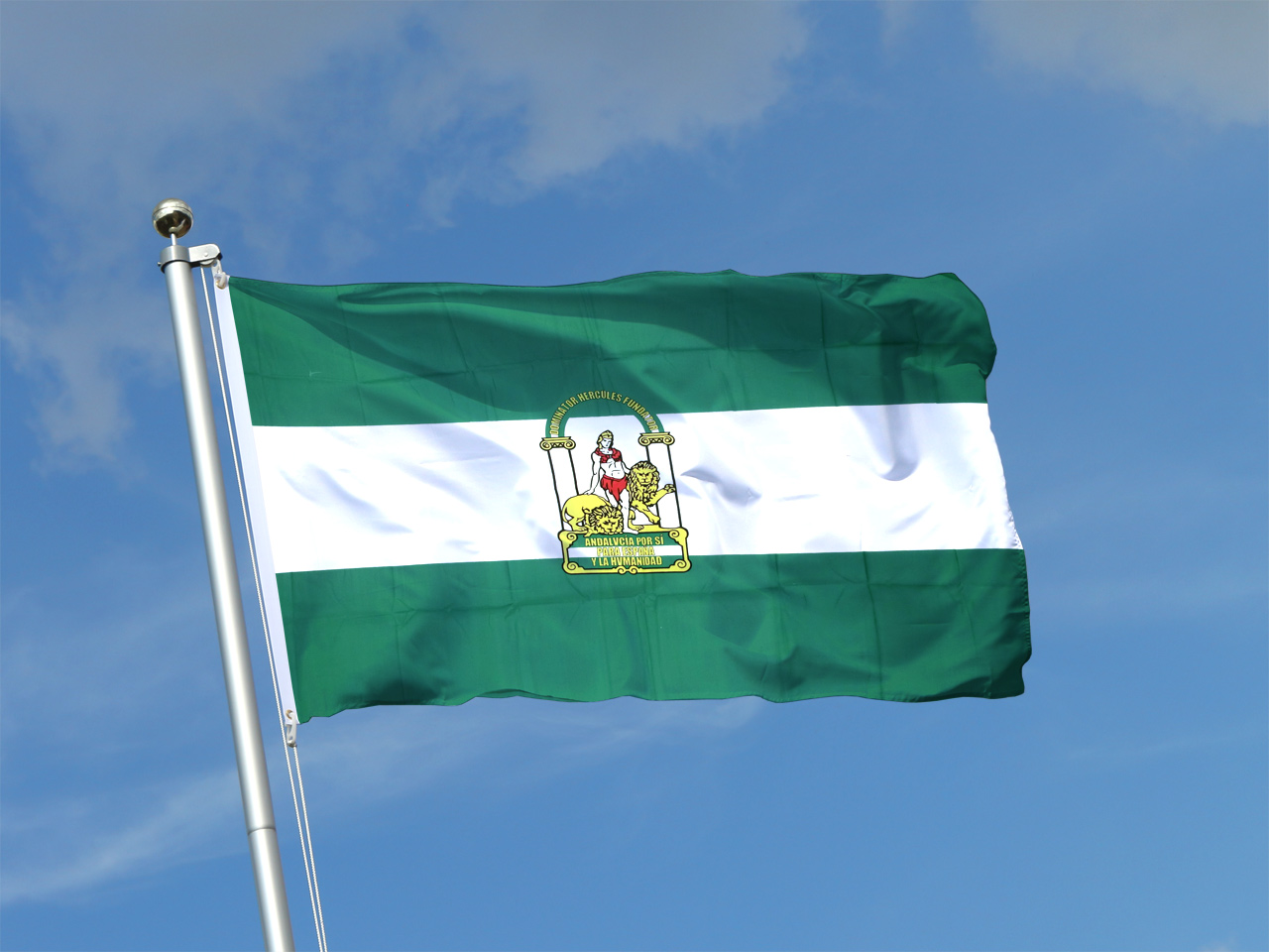 Andalusien flagge maxflags bei for Dekoration spanien