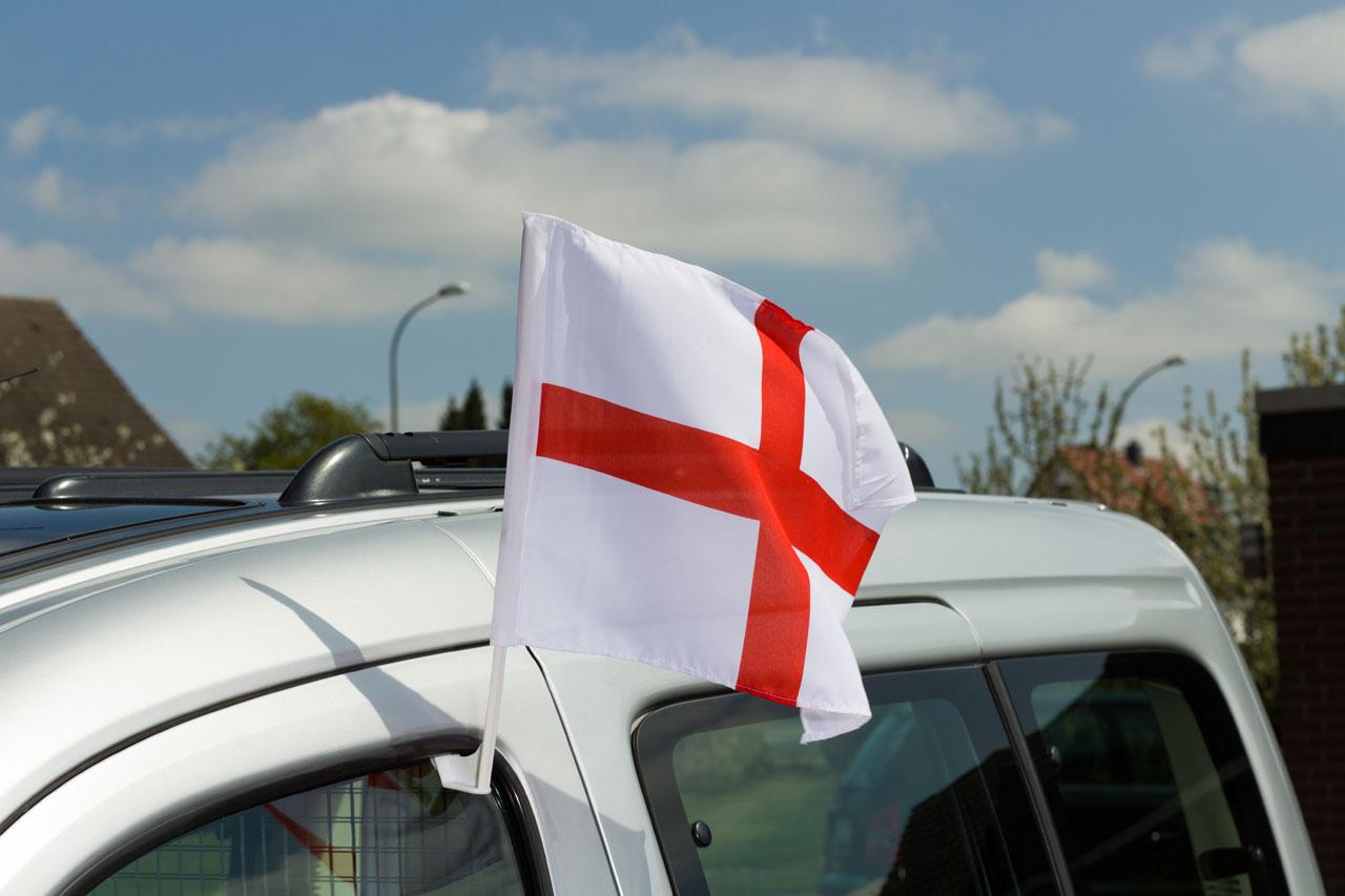Design car flags - England St George Car Flag 12x16