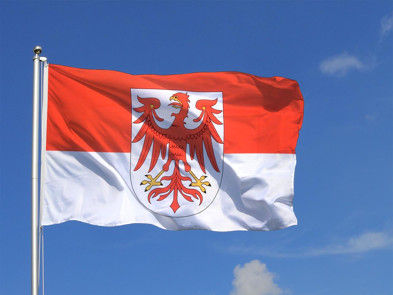 deutschland brandenburg flagge brandenburgische fahne 150x250 cm unkompliziert im shop bestellen. Black Bedroom Furniture Sets. Home Design Ideas